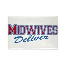 Midwives Deliver, Midwife Rectangle Magnet (10 pac