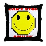 Can't Stop Smiling Throw Pillow
