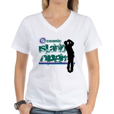 Oceanic Island Open Womens V-Neck T-Shirt