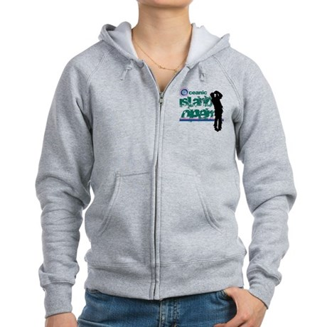 Oceanic Island Open Womens Zip Hoodie