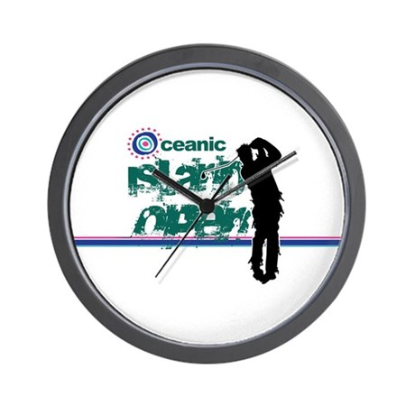 Oceanic Island Open Wall Clock
