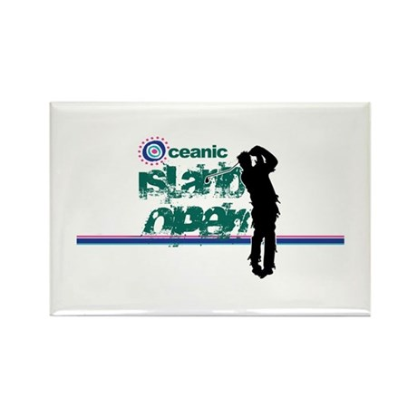 Oceanic Island Open Rectangle Magnet