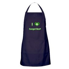 I Love Corned Beef Apron (dark)