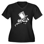 Mad Hatter Striding Right Women's Plus Size V-Neck