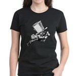 Mad Hatter Striding Right Women's Dark T-Shirt