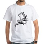 Mad Hatter Striding Right White T-Shirt