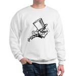 Mad Hatter Striding Right Sweatshirt
