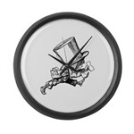Mad Hatter Striding Right Large Wall Clock