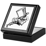 Mad Hatter Striding Right Keepsake Box