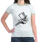 Mad Hatter Striding Right Jr. Ringer T-Shirt