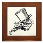 Mad Hatter Striding Right Framed Tile