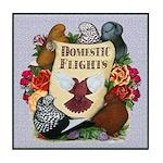 Domestic Flights Scroll Tile Coaster