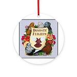 Domestic Flights Scroll Ornament (Round)