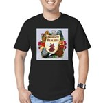 Domestic Flights Scroll Men's Fitted T-Shirt (dark