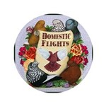 """Domestic Flights Scroll 3.5"""" Button (100 pack"""