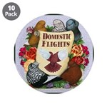 """Domestic Flights Scroll 3.5"""" Button (10 pack)"""