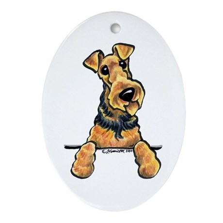 Welsh Terrier Lover Ornament (Oval)