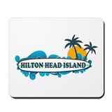 Hilton Head Island SC - Surf Design Mousepad