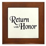 Return With Honor Framed Tile
