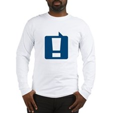 Exclamation (Blue) Long Sleeve T-Shirt