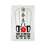 Wing Chun Kuen Rectangle Magnet