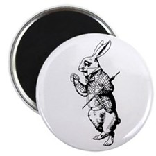 "White Rabbit 2.25"" Magnet (100 pack)"