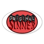 Original Sinner Circle Oval Sticker