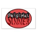 Original Sinner Circle Rectangle Sticker