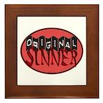 Original Sinner Circle Framed Tile