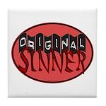 Original Sinner Circle Tile Coaster