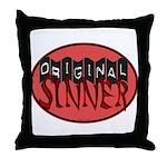 Original Sinner Circle Throw Pillow