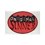 Original Sinner Circle Rectangle Magnet