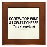 Cheap Date Framed Tile