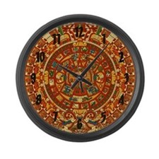 Ancient Aztec Calendar Large Wall Clock