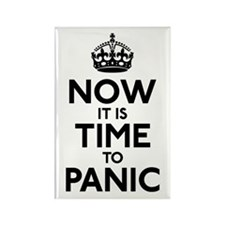 Time To Panic Rectangle Magnet (100 pack)
