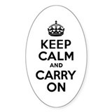 Keep Calm & Carry On Bumper Stickers