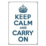 Keep Calm &amp; Carry On Banner
