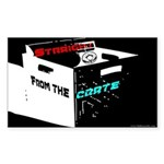 'Straight From The Crate' Sticker (Rectangle)