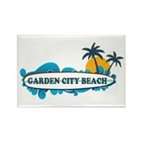 Garden City Beach SC - Surf Design Rectangle Magne