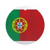 Vintage Portugal Flag Ornament (Round)