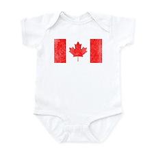 Vintage Canada Flag Infant Bodysuit