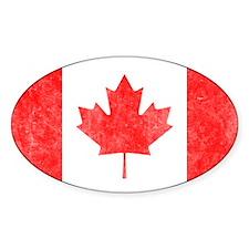 Vintage Canada Flag Decal