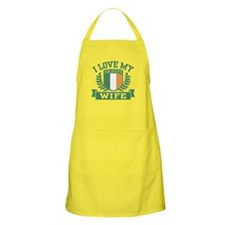 I Love My Irish Wife Apron