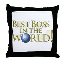 Best Boss in the World Throw Pillow