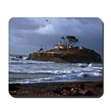 Battery Point Lighthouse & Gull Mousepad