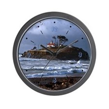 Battery Point Lighthouse & Gull Wall Clock