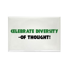 Celebrate Diversity Of THOUGHT Rectangle Magnet (1