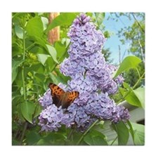 Blue Lilac Tile Coaster