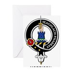Morrison Clan Crest Badge Greeting Cards (Package