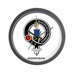 Morrison Clan Crest Badge Wall Clock